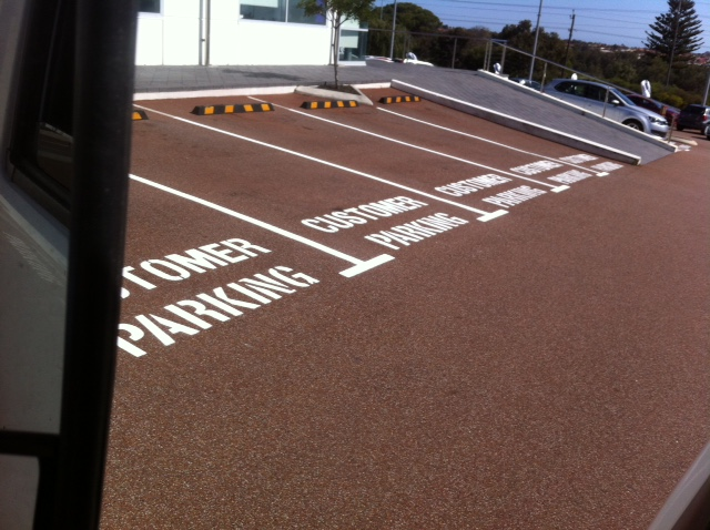 Car Park Marking for Customer Parking