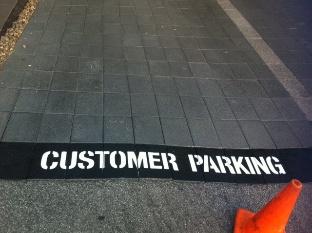 Customer Parking signage